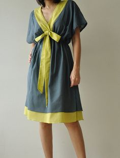 Butter Fly II ...Dark Green Cotton Dress by aftershowershop, $39.50