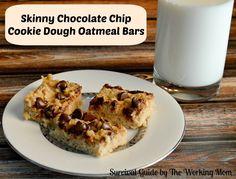 Skinny Chocolate Chip Cookie Dough Oatmeal Bar Recipe