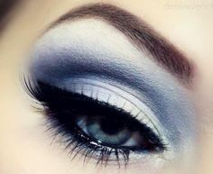 Snowflake Smokey Eye Makeup