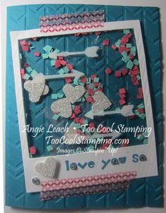 Poloroid Fringe Confetti Shaker Card