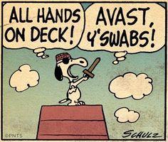 Snoopy as pirate cartoon