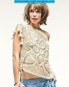 Remera crochet, con graficos (pattern) | Mi Rincon de Crochet