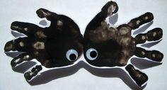 ThanksHand Print Spider #Halloween #crafts #kids awesome pin
