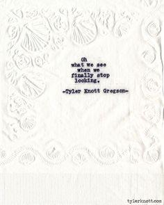 Typewriter Series #583byTyler Knott Gregson