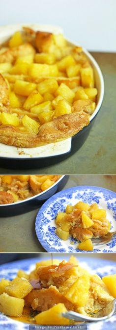 Baked #Pineapple French Toast #toast #breakfast #frenchtoast