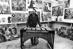 """Johnny Otis is shown in his Altadena studio in 1985. """"I get a wave of pride in America when I look back at what we've accomplished in the field of music."""""""