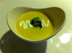 Crema de Elote wopped with Huitlacoche