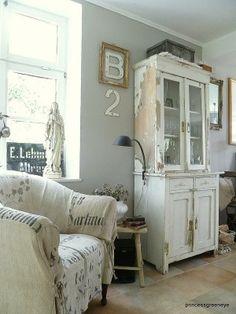 weathered white interior