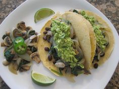 Black Bean Tacos with Cilantro Jalapeno Guacamole from pg 133 in my newest book S.A.S.S! Yourself Slim.