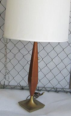 Midcentury modern Danish table lamp by UpReNew on Etsy, $450.00