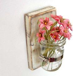 Shabby Chic Sconce Cottage Decor Vase by Old New Again - modern - vases - Etsy
