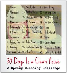 Starts 4/1 - 30 Days to a Clean House  - Come join us!