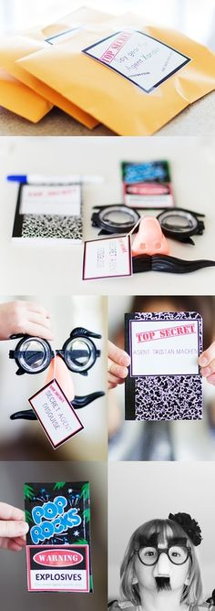 Love these for a spy theme or scavenger hunt type birthday party