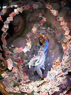 Alice in Wonderland Christmas Windows Shop at Fortnum and Mason, London