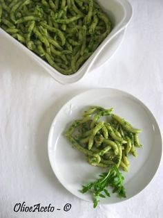 pasta fresca rucola e gamberetti