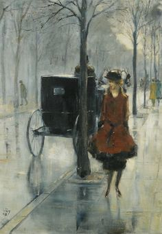 Lesser Ury was a German Impressionist painter and printmaker, associated with the Düsseldorf school of painting. He was born Leo Lesser Ury in Birnbaum, the son of a baker whose death in 1872 was followed by the Ury family's move to Berlin.