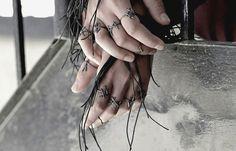 Rune Rings.  Series of silver rings with runes of Joanna Szkiela