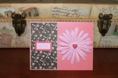 """Cherry blossom """"Mom"""" handmade card by AnLieDesigns on Etsy, $2.00"""