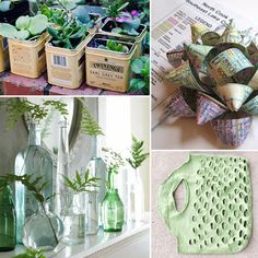 Bottles can be reused as decoration vases