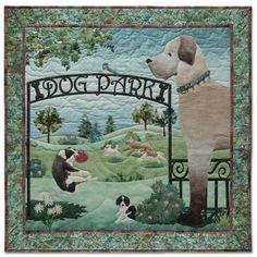 Dog Park- Unleashed by McKenna Ryan.  Patterns at Over Rainbow