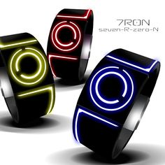 Tron Inspired Kisai Seven LED Watch