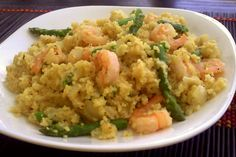 Creamy Shrimp and Asparagus Quinoa Risotto  This is dinner tonight with some scallops thrown in! YUM!!