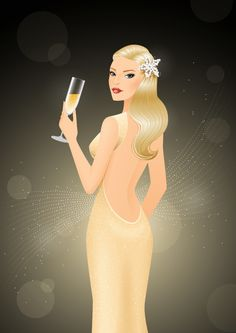Create a Glamorous Champagne-Inspired Illustration in Illustrator - Tuts+ Design & Illustration Tutorial