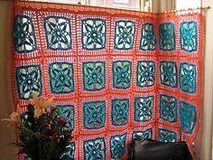 very cute idea, crochet curtains!
