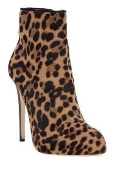 Duccio Venturi Leopard Print Ankle Boots