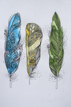 tattoo ideas, doodle tattoo, feather pen tattoo, drawing feathers, tattoo dreams, feather tattoos, doodles illustration, black feather tattoo, tattoo of feathers