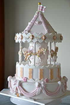 cupcak, carrousel party, beauti cake, cakes, carousel cake, beauti carousel, cake decor, carusel cake, carousels