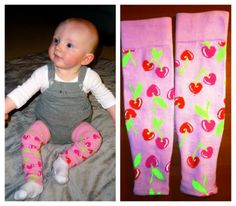 Make your own baby leg warmers from women's socks - awesome and easy!