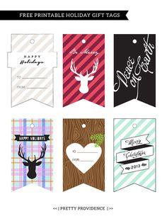 Etiquetas imprimibles para #navidad >> Printable Holiday Gift Tags