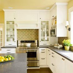kitchens, idea, decorating kitchen, interior design kitchen, kitchen interior, modern kitchen, white cabinets, kitchen designs, countertop