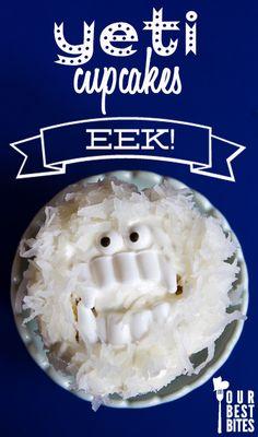 Super-Easy Yeti Cupcakes