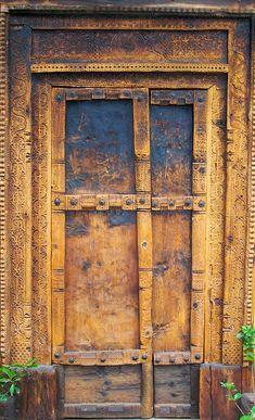 wood, door, carving  ~ #bluedivagal, bluedivadesigns.wordpress.com