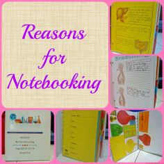 Reasons for Notebooking | Blessed Learners