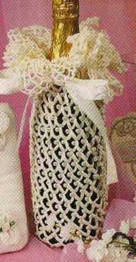 Free Crochet Wedding Champagne Sacque pattern