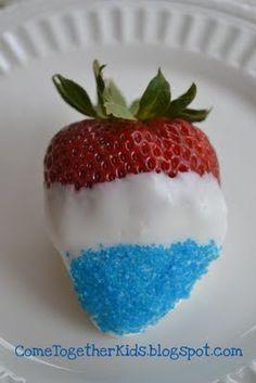 patriotic strawberries :)