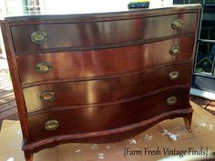How to Transform a Dresser with Paint and Gel Stain Part 1 - Farm Fresh Vintage Finds