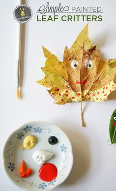 Fall Craft Ideas. Paint leaf creatures.