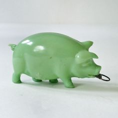 Vintage Antique Celluloid Pig Tape Measure by RattyAndCatty