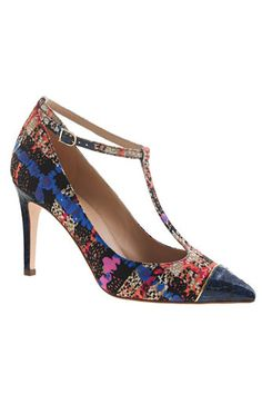 shoes, tstrap pump, fashion, j crew, cap toe, bag, jcrew, print tstrap, toe print