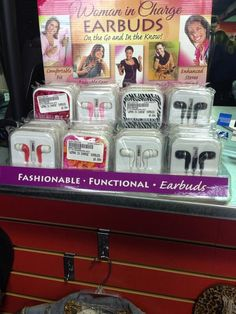 """Earbuds for """"woman in charge"""" (sigh, thanks @SACHEM_PeerEd)"""
