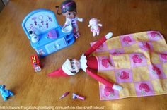 Elf on The Shelf Ideas – The Doc is In Fixing Elf #elfontheshelfideas #elfontheshelf #DocMcstuffins