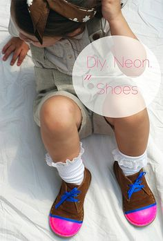 super fun DIY neon shoes for kids - love!