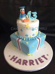 friend cake, gabbi birthday, donald duck, beauti cake, cake design, charact cake, 13th birthday, duck cake, birthday cakes
