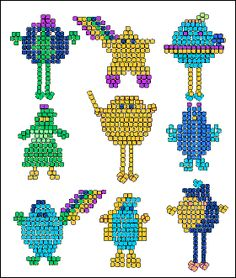 Free Download Planetpals Pony Bead Crafts Patterns.  Learn to be green!