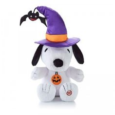 Snoopy the Witch is an electronic plush Snoopy dressed as a witch that cackles and bounces up and down to a spooky-sounding tune.