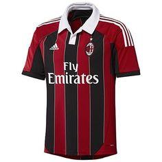 AC Milan 2012 Home Adidas Replica Soccer Jersey (Red/Black)